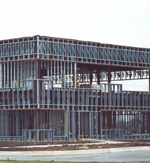 we use trained union labor to install exterior metal framing curtain wall applications lightgage metal trusses and metal floor trusses
